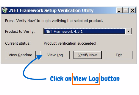 .Net Setup Framework Verification tool