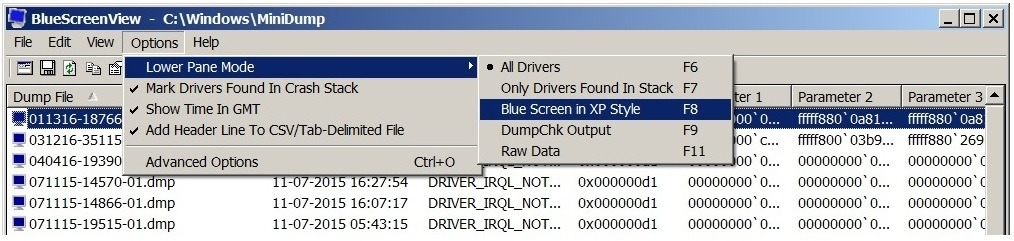 How to read blue screen of death minidump files