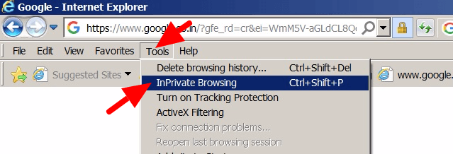 How to enable private mode internet browsing