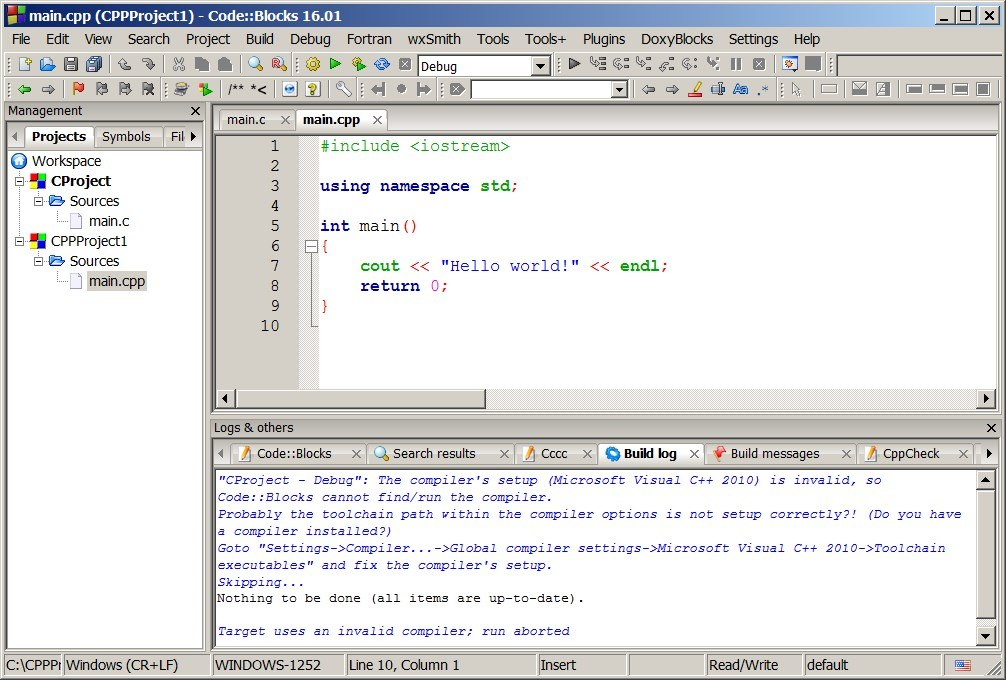 Code::Blocks development IDE