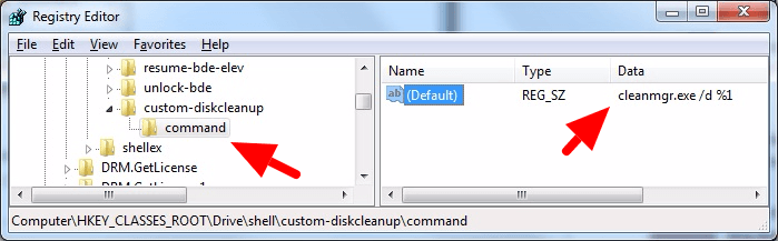 Add 'Disc Cleanup' utility shortcut into Context Menu
