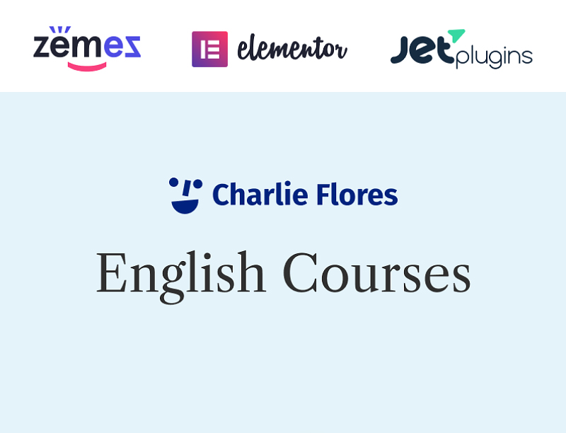 Charlie Flores - Teaching Portfolio Website WordPress Theme