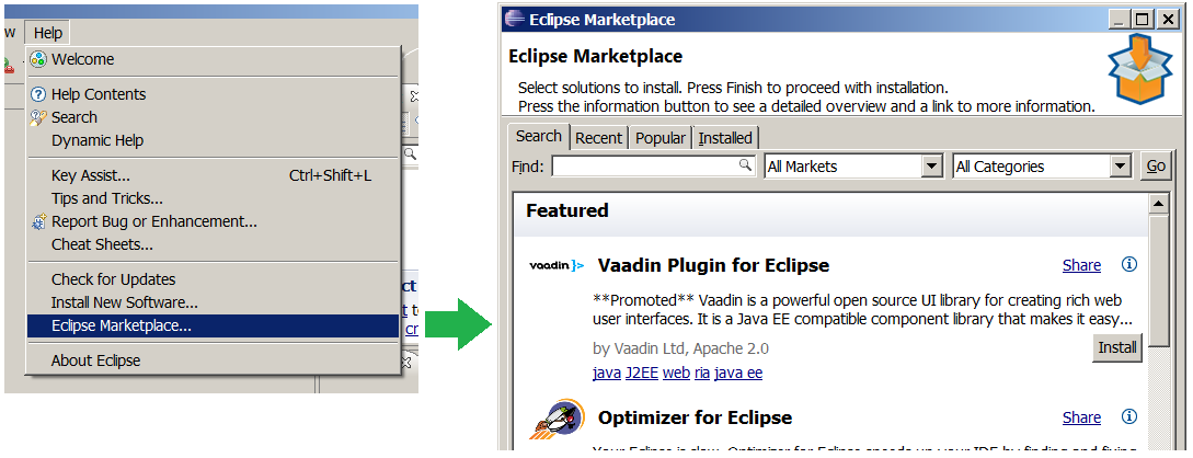 Cannot open Eclipse Marketplace