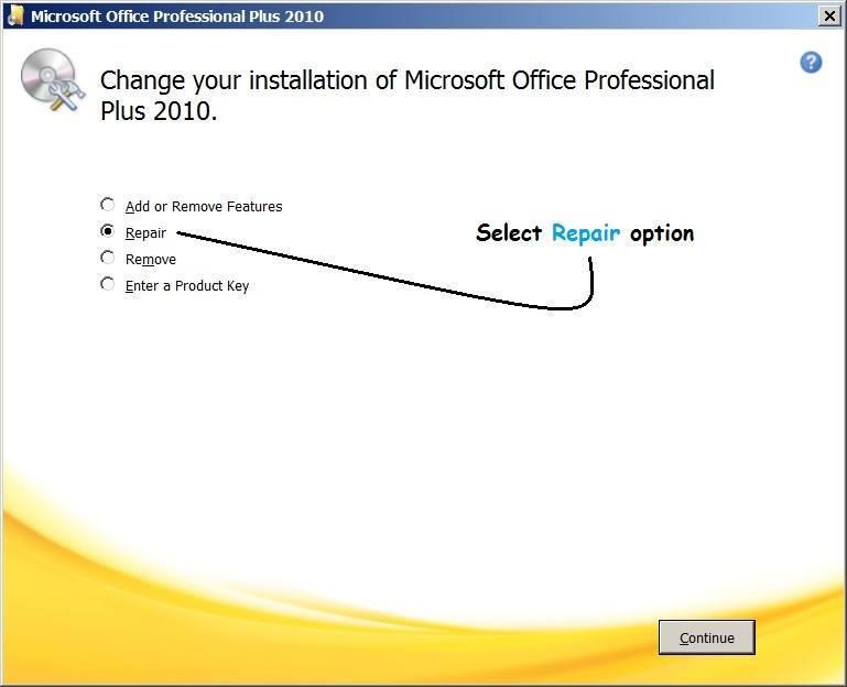 Microsoft Office not responding