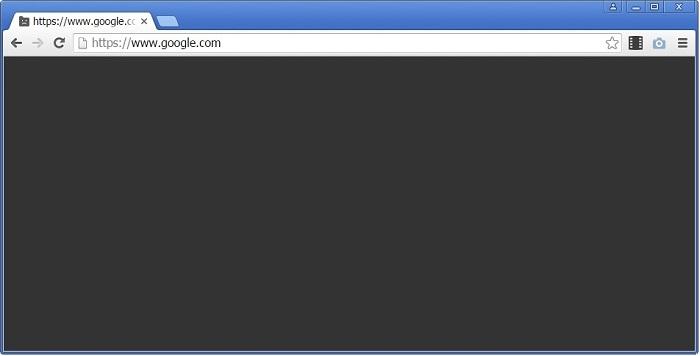 Google Chrome display black screen