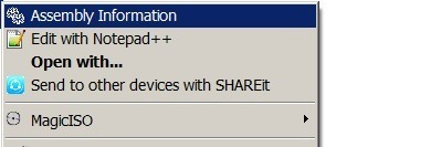 .Net Assembly Information tool