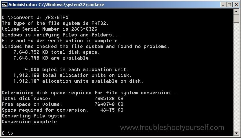 The file is too large for the destination file system error