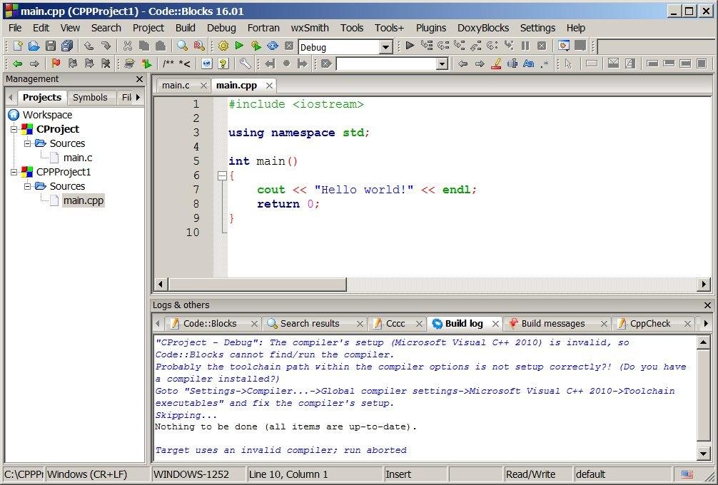 Code::Blocks development IDE