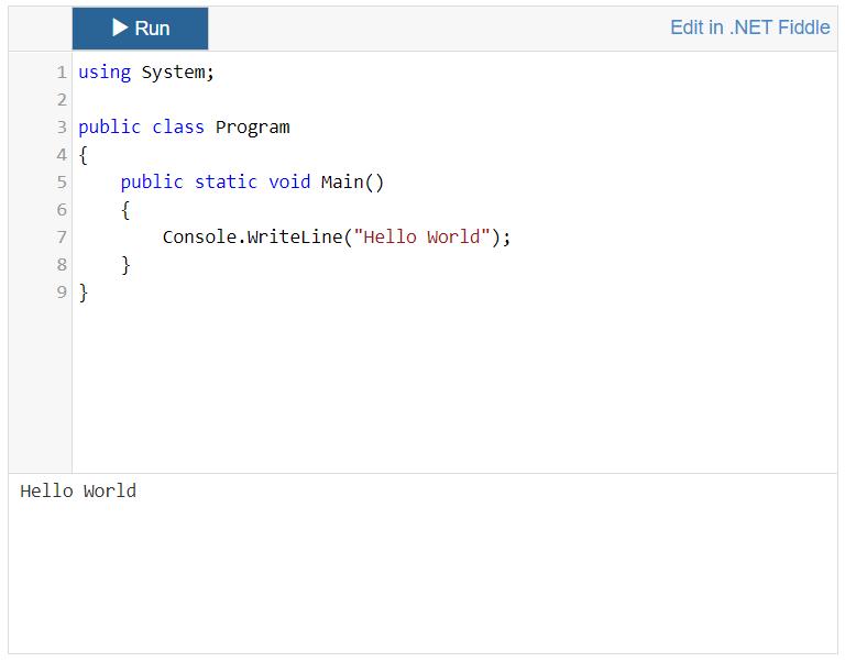 .NET Fiddle