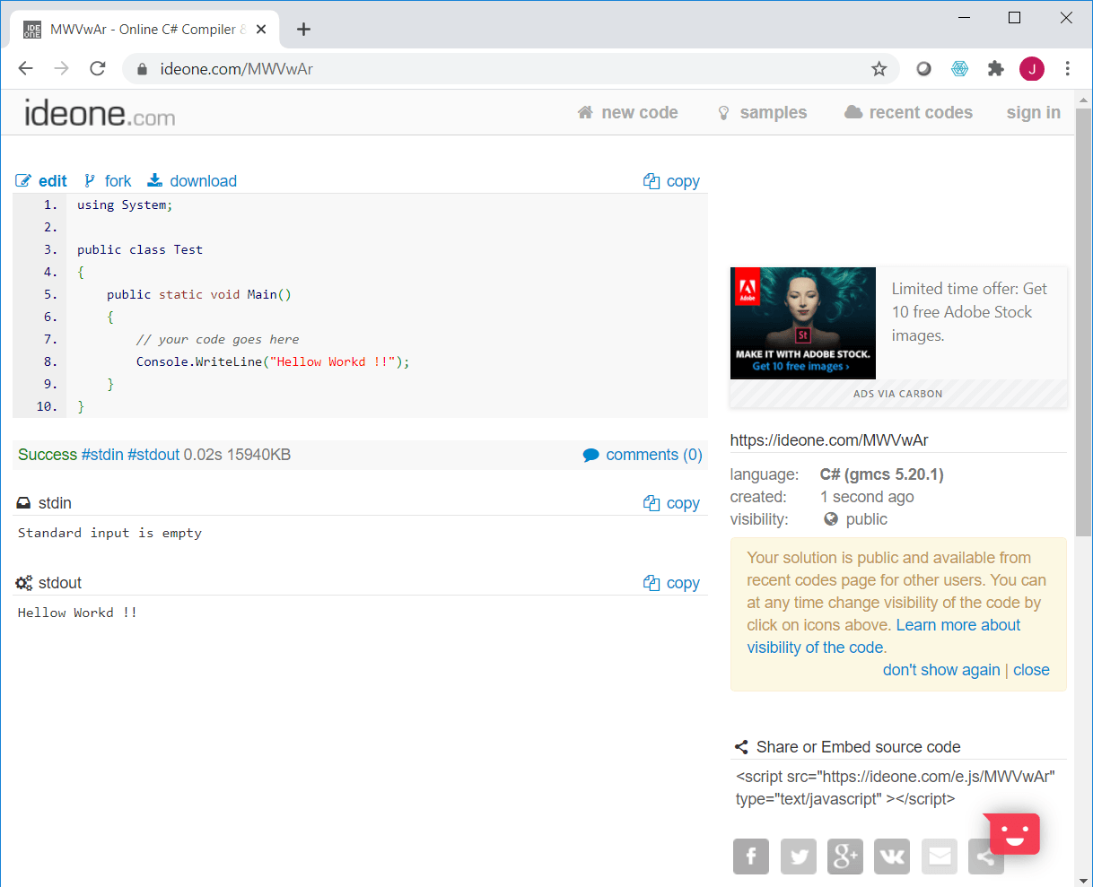 Online Code Editor and Compiler