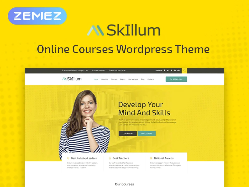 SkIllum - Online Courses Elementor WordPress Theme