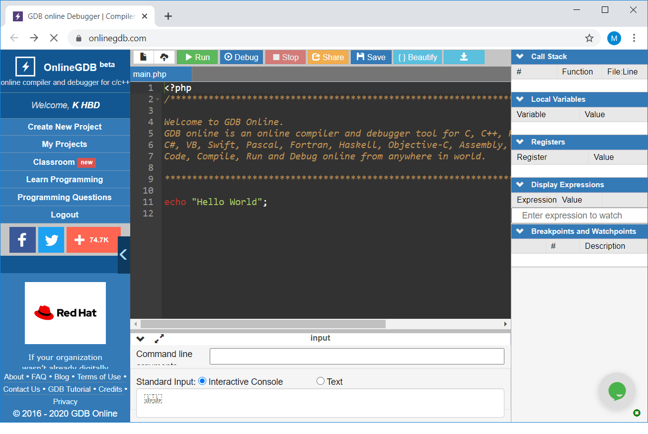OnlineGDB – C and C++ Compiler and Debugger