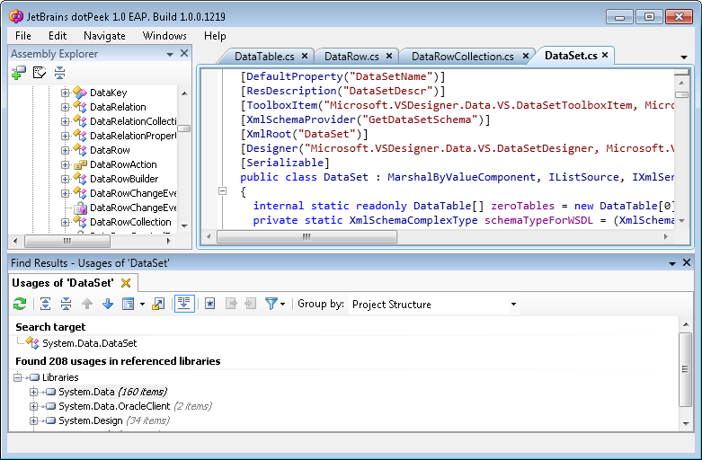 dotPeak Free .NET Decompiler and Assembly Browser